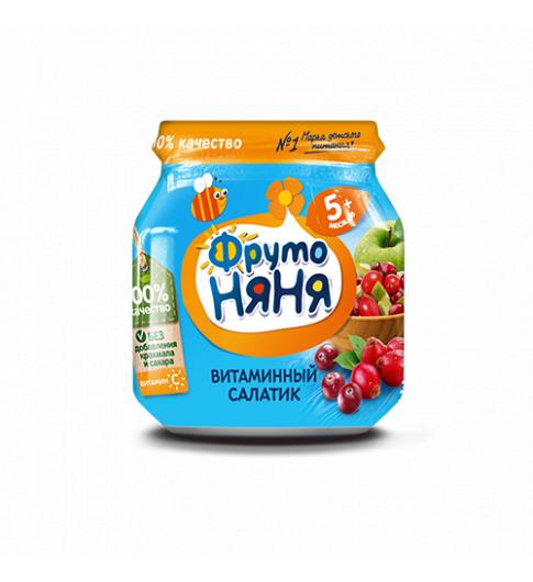Фрутоняня Пюре Витаминный салатик, 5мес+, 100гр,