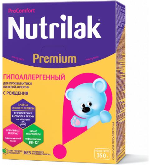 Nutrilak Premium гипоаллергенный смесь, 0-12мес, 350 г