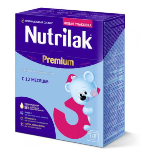 Nutrilak (Нутрилак) Премиум Молочная смесь 3, 12мес+, 350 гр