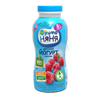 Фрутоняня Йогурт с Малиной 8мес+, 200 гр ДО 9 АВГУСТА