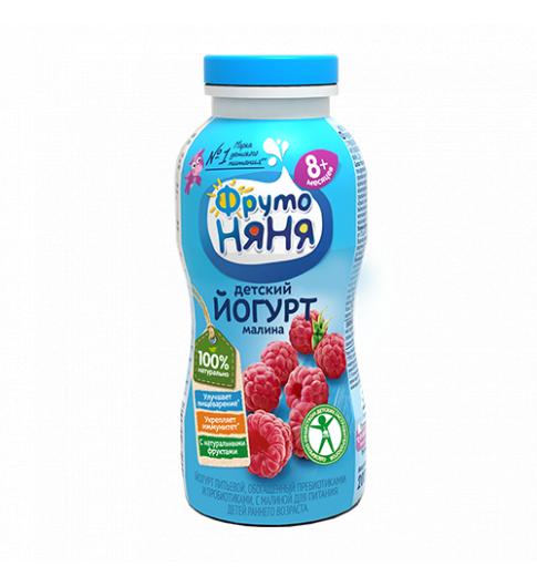 Фрутоняня Йогурт с Малиной 8мес+, 200 гр