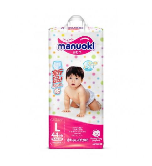 Manuoki подгузники-трусики, L (9-14 кг), 44 шт МАНУОКИ