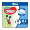 Huggies Подгузники Ультра Комфорт 4 для мальчиков, 8-14кг,126 шт Хаггис