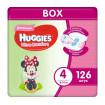Huggies Подгузники Ультра Комфорт 4 для девочек, 8-14кг, 126 шт