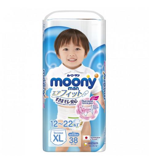 Moony Подгузники-трусики для мальчиков XL (12-22 кг) 38 шт
