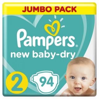 Pampers (Памперс) Подгузник New Baby Dry, 2 (4-8 кг), 94 шт Памперс
