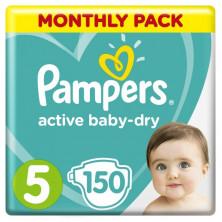 Пампeрs Подгузники Active Baby-Dry р.5 (11-16 кг) 150 шт