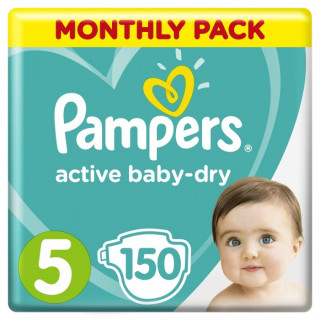 Pampers (Памперс) Подгузники Active Baby-Dry р.5 (11-16 кг) 150 шт