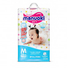 Manuoki подгузники-трусики, M (6-11 кг), 56 шт