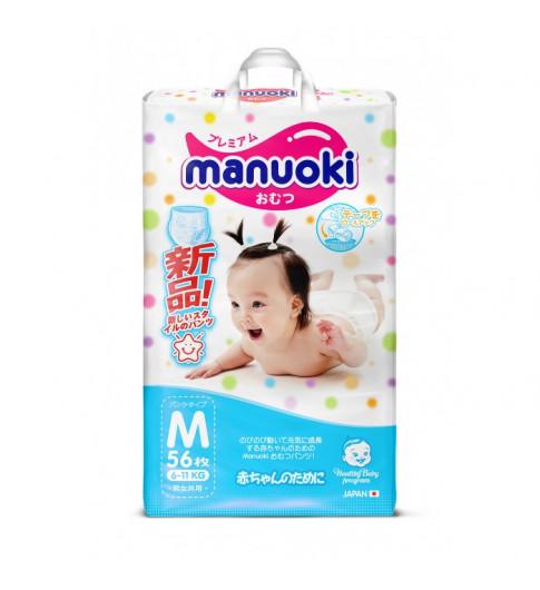 Manuoki подгузники-трусики, M (6-11 кг), 56 шт МАНУОКИ