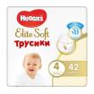 Huggies Elite Soft Трусики-подгузники,  4 (9-14 кг) 42 шт Хаггис