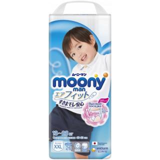 Moony Подгузники-трусики для мальчиков XXL (13-28 кг) 26 шт