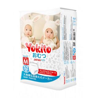 Yokito Подгузники-трусики Premium «M» (5-10кг), 52 шт