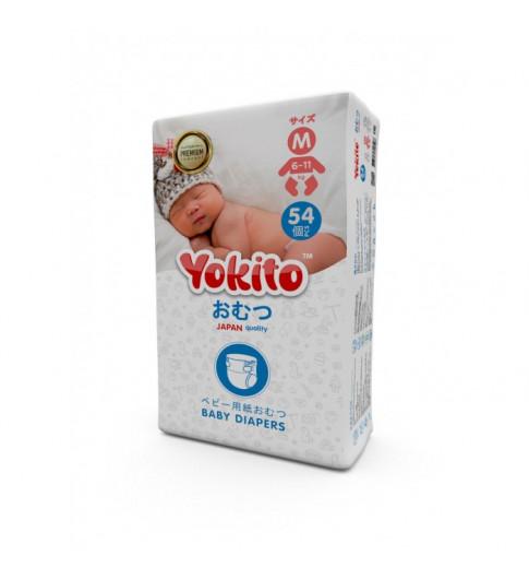 Yokito Подгузники на липучках M (6-11 кг) 54 шт