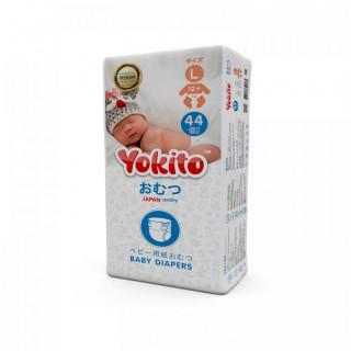 Yokito Подгузники на липучках L ( 12+ кг) 44 шт