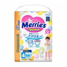 Merries подгузники-трусики, L (9-14 кг), 56 шт Мерриес