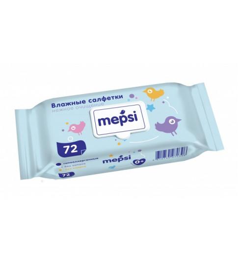 Mepsi влажные салфетки с рождения, 72 шт, 0мес+