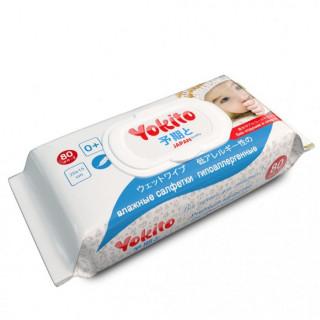 Yokito Влажные салфетки детские Premium 80 шт