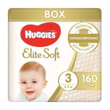 Huggies Подгузники Elite Soft Mega 3 (5-9 кг) 160 шт Хаггис