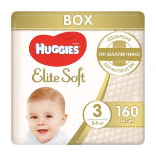 Huggies Подгузники Elite Soft Mega 3 (5-9 кг) 160 шт Хаггис