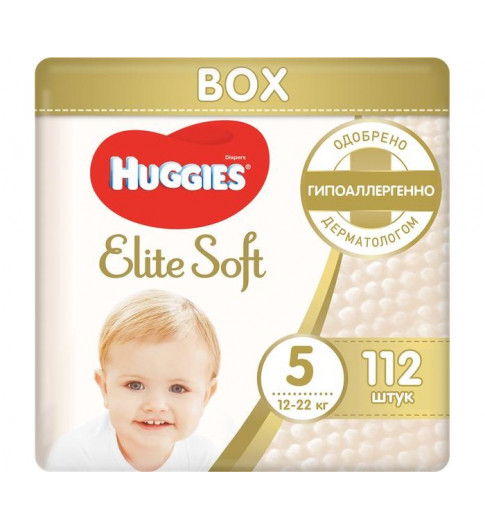 Huggies Подгузники Elite Soft Mega 5 (12-22 кг) 112 шт