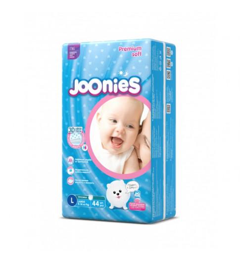 Joonies Подгузники-трусики L 9-14кг 44шт Джунис
