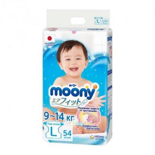 Moony подгузники, L (9-14 кг), 54 шт Муни