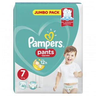 Pampers (Памперс) Подгузники-трусики Pants  р.7 (17+ кг) 40 шт.