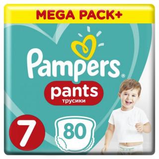 Pampers (Памперс) Подгузники-трусики Pants  р.7 (17+ кг) 80 шт