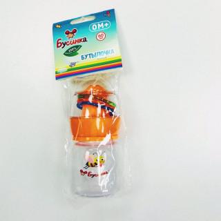 Бусинка Бутылочка для кормления с силиконовой соской, 0мес+, 60 мл
