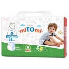 miTOmi Подгузники-трусики ХL (12-22 кг), 38 шт Митоми