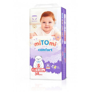 miTOmi Подгузники-трусики Comfort ХL (12-22 кг), 38 шт