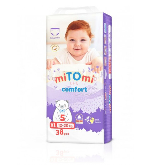 miTOmi Подгузники-трусики Comfort ХL (12-22 кг), 38 шт МИТОМИ