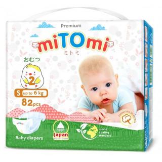 miTOmi Подгузники S (до 6 кг), 82 шт Митоми