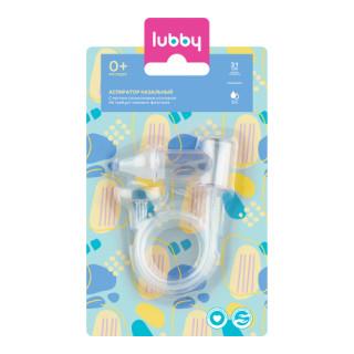 Lubby Аспиратор для носа с силиконовым кончиком, 0мес+
