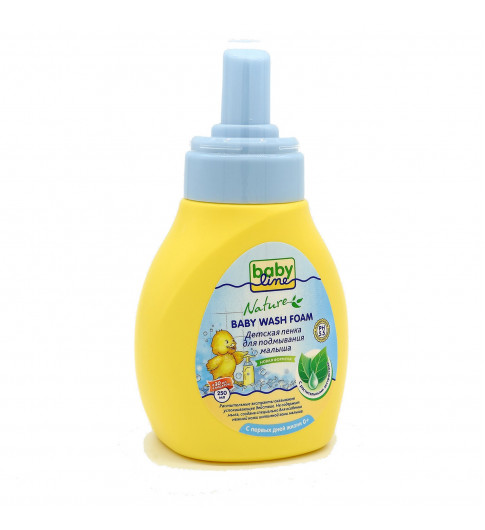 Babyline Nature Детская пенка для подмывания малыша, 250 мл