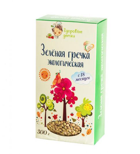 Здоровые детки Зеленая Гречка, 18мес+, 300 гр