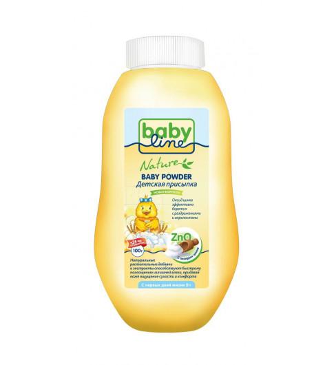 Babyline Nature Детская присыпка с оксидом цинка, 0мес+, 125гр Бебилайн