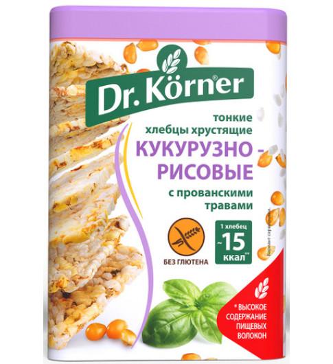 Dr. Korner  Хлебцы кукурузно-рисовые с прованскими травами, 100 г