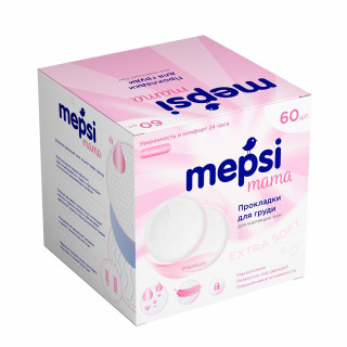 MEPSI Прокладки для груди гелевые, 60 шт. Поврежденная упаковка