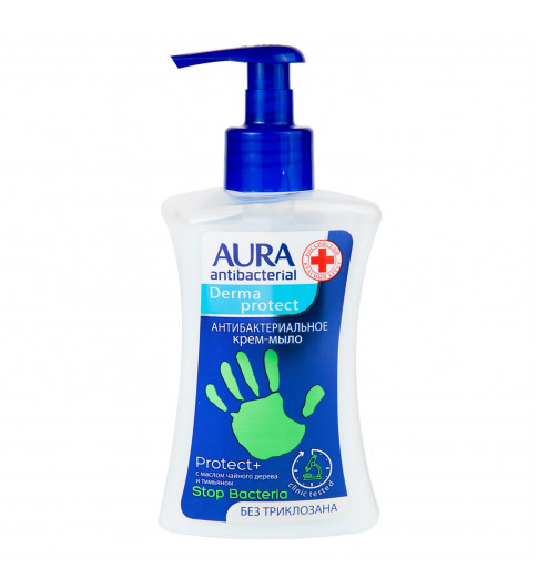 Aura Крем-мыло для рук антибактериальное Масло Чайного дерева и Тимьяном, 250 мл