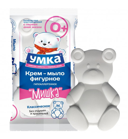 УМКА Мыло детское классическое фигурное Мишка, 60 г