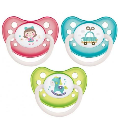 Canpol Babies Пустышка Латексная Toys, 6-18 мес