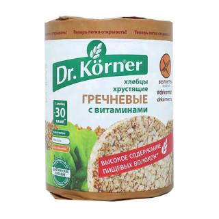 Dr. Korner  Хлебцы Гречневые С ВИТАМИНАМИ, 100 гр  без глютена