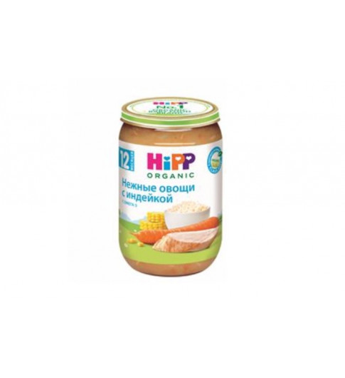 Hipp Пюре мясное Нежные овощи с индейкой, 12мес+, 220гр Хипп