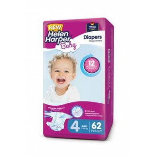 Helen Harper Подгузники Baby Junior (7-14 кг) 62 шт 4-ка