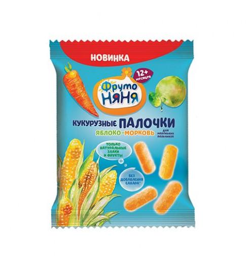 Фрутоняня Палочки кукурузные яблоко-морковь 20г, 12мес+