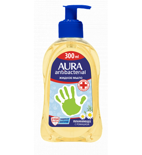 Aura жидкое мыло для рук антибактериальное Ромашка, 300 мл