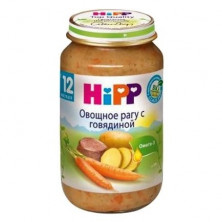 Hipp Пюре Овощное Рагу с Говядиной, 12 мес+, 220 гр