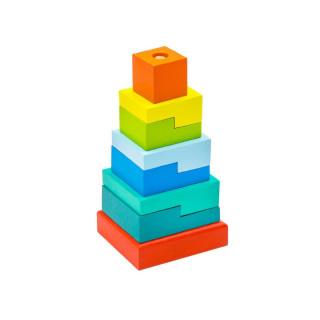 "Alatoys Пирамидка ""Ступеньки"", дерево - 8 деталей"